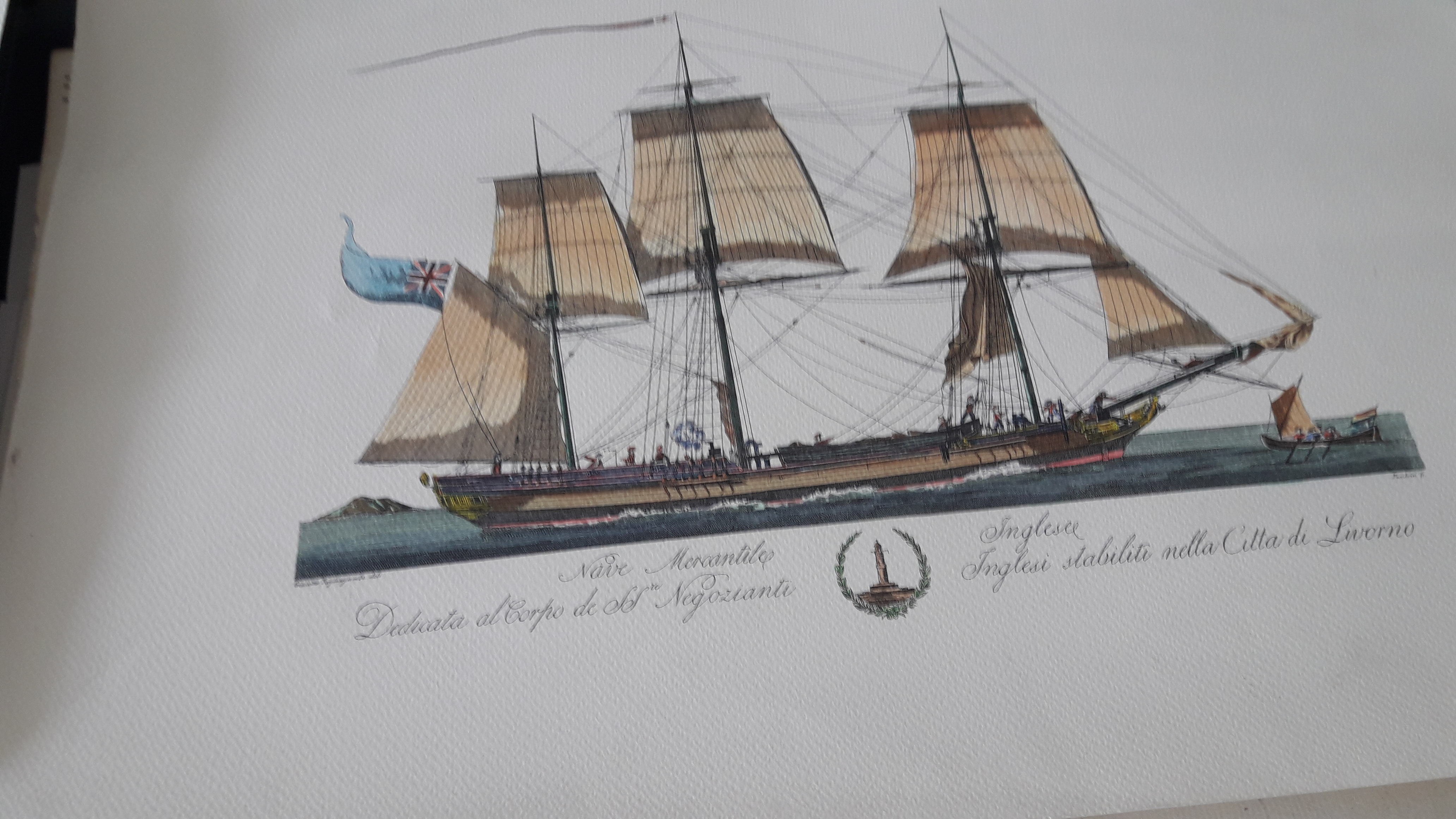Three reproductions of Italian boat prints